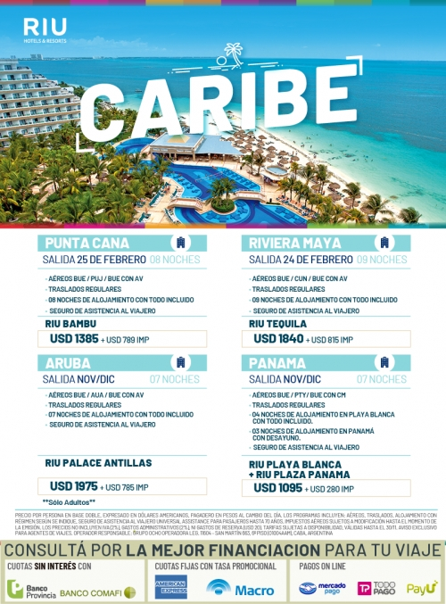 Caribe con RIU Hotels & Resorts