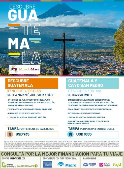 Descubre Guatemala - salidas de Enero a Julio 2019