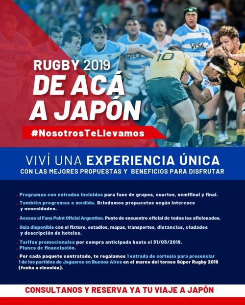 Rugby 2019 - de acá a Japón