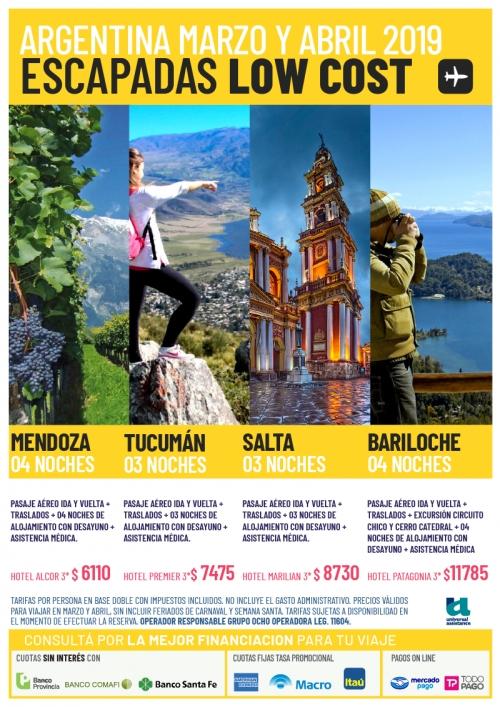Argentina 2019 Escapadas LOW COST