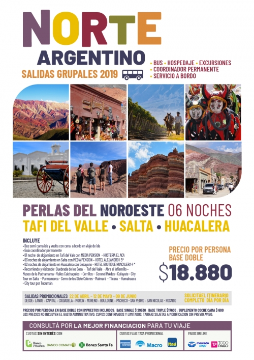Norte Argentino Salidas Grupales 2019