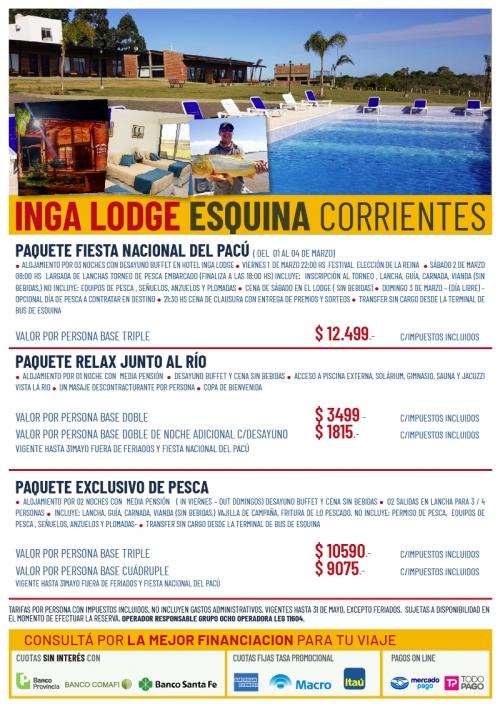 Inga Lodge Corrientes Programas de Pesca