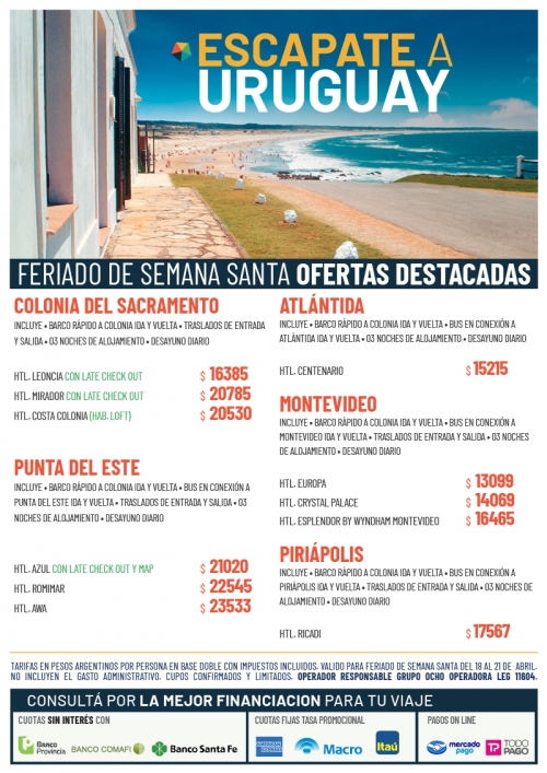 Uruguay Escapadas Ofertas Semana Santa