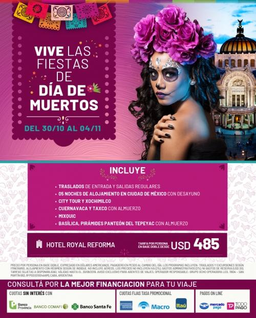Vive las fiestas del Día de Muertos en México
