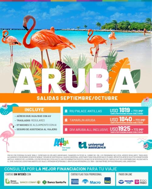 Aruba Salidas en Septiembre y Octubre