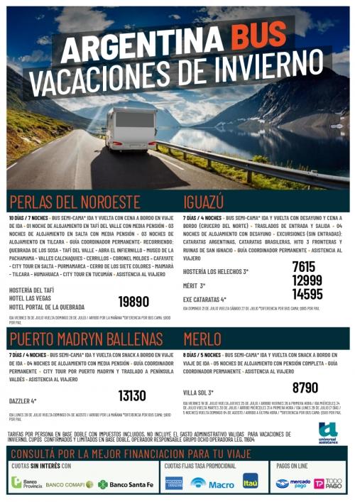 Argentina Bus Vacaciones de Invierno