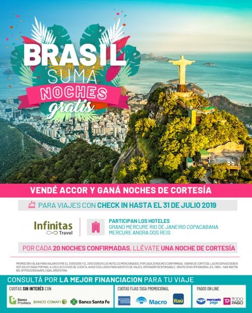 Vendé Brasil y sumá noches de cortesía