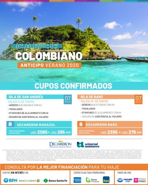Caribe Colombiano Verano 2020 Cupos Ok