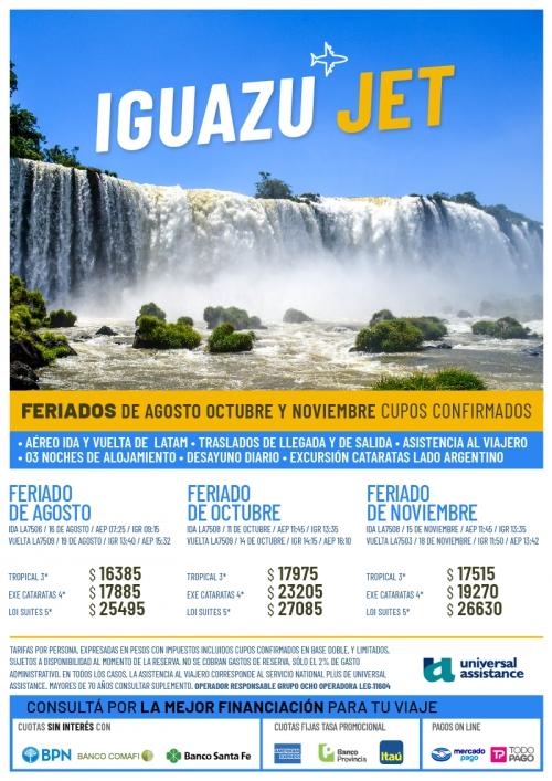 Iguazú Feriados 2019 Cupos Ok