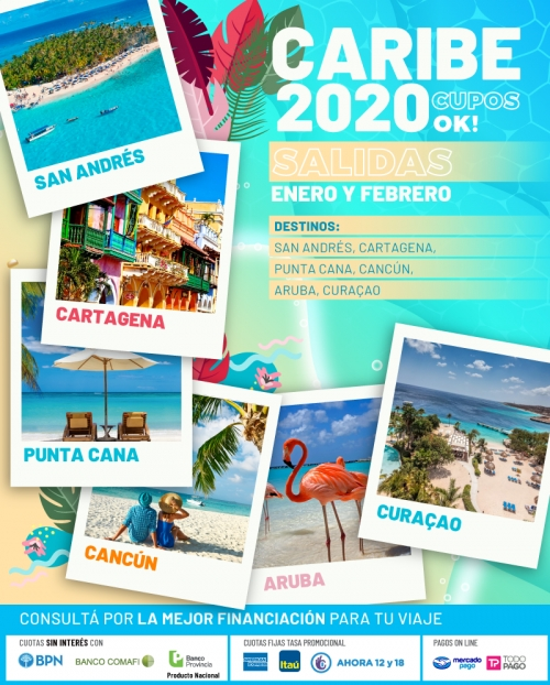 Caribe 2020 Cupos Ok Salidas en Enero y Febrero