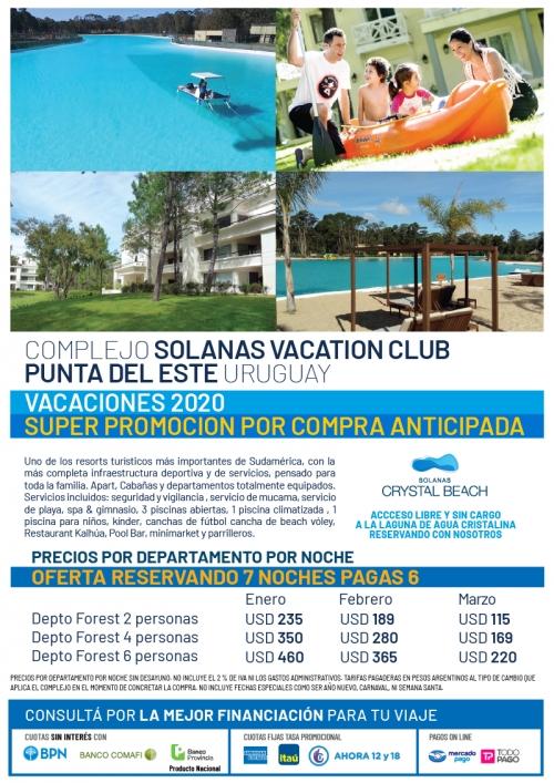 Solanas Punta del Este Verano 2020 Compra Anticipada