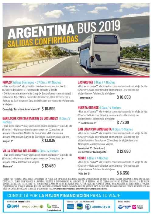 Argentina en Bus 2019 Salidas Confirmadas