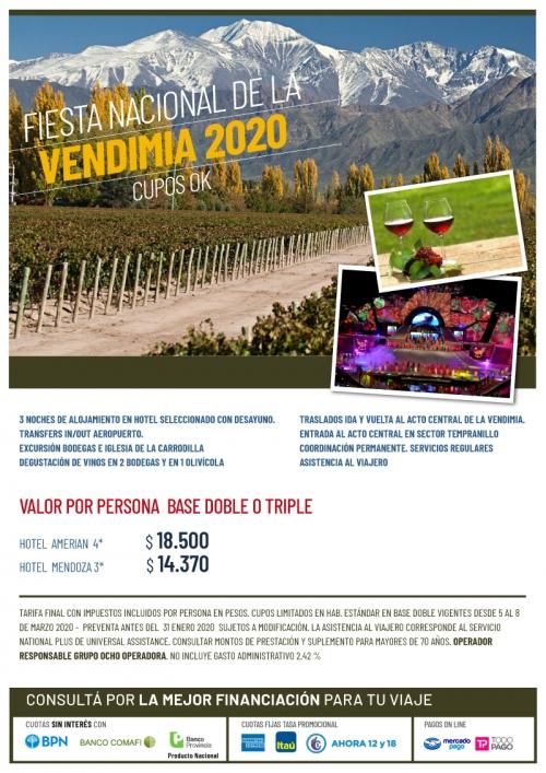 Fiesta Nacional de la Vendimia 2020 Cupos Ok