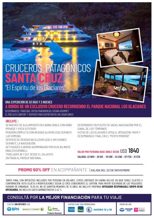 Cruceros Patagónicos Santa Cruz