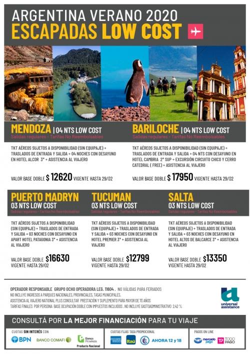 Argentina Verano 2020 Escapadas Low Cost