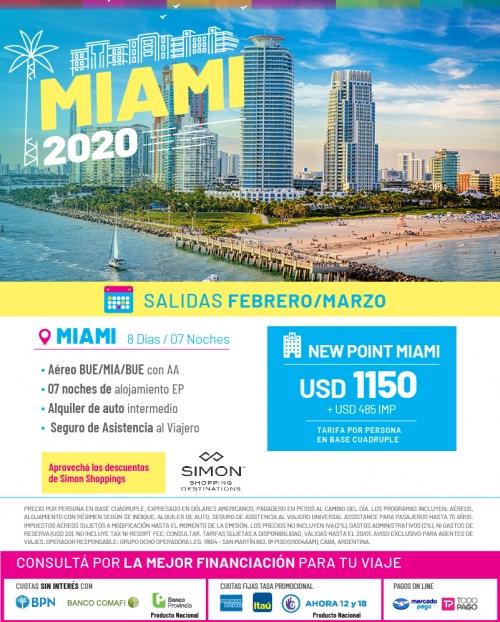 Miami 2020 Salidas en Febrero y Marzo