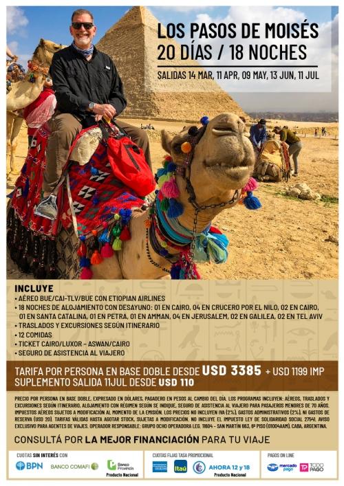 Los Pasos de Moisés - Egipto, Jordania e Israel