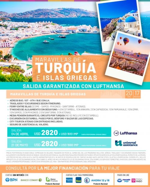 Maravillas de Turquía e Islas Griegas
