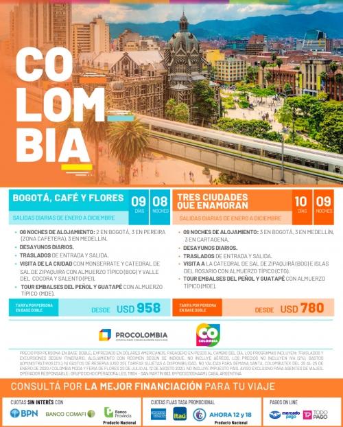 Colombia 2020 Circuitos en Promoción