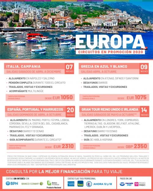 Europa 2020 Circuitos en Promoción