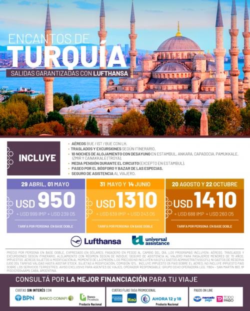 Encantos de Turquía Salidas Garantizadas