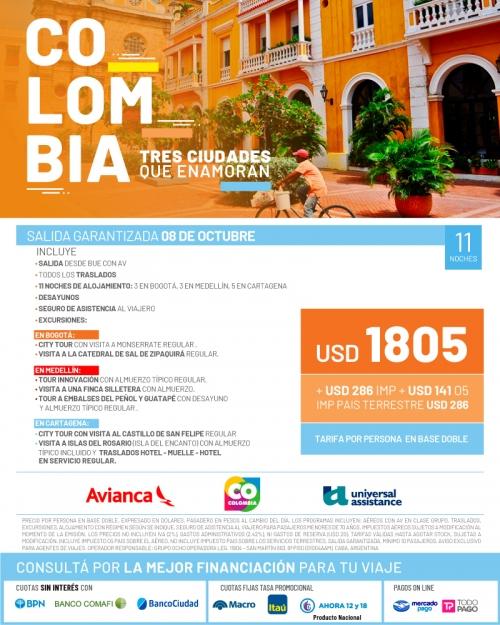 Colombia: 3 ciudades que enamoran