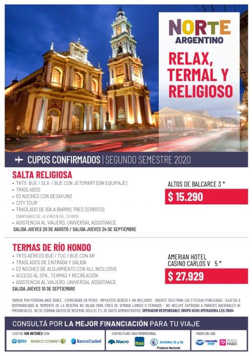 Norte Argentino Relax, Termal y Religioso