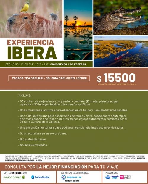 Experiencia Iberá con tarifas FLEXIBLES