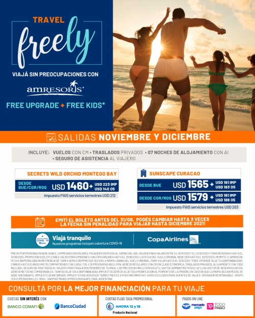 AMResorts UpGrade FREE y Promo FLEXIBLE