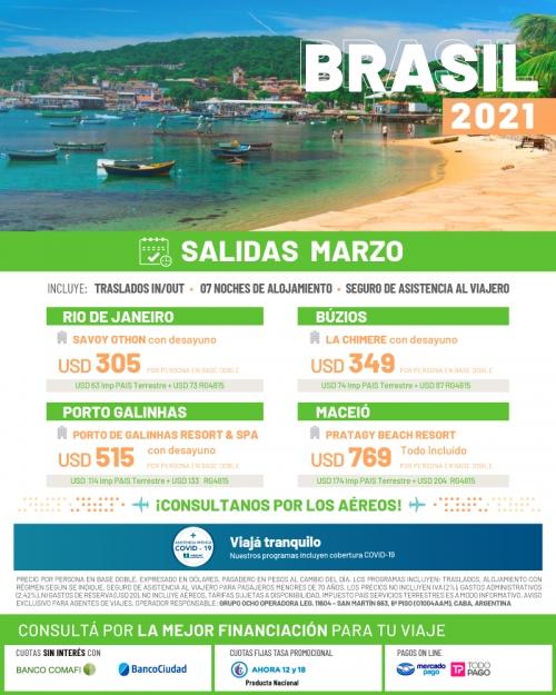 Brasil 2021 Salidas en Marzo