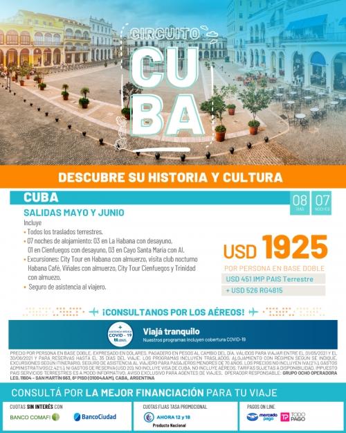 Circuito Cuba Historia y Cultura salidas en Mayo y Junio