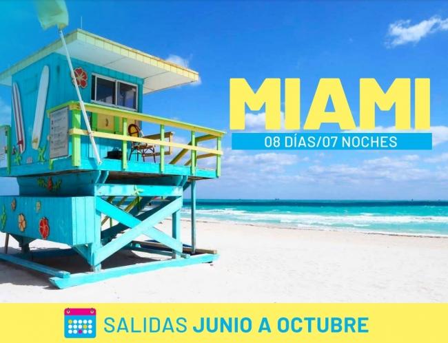 Miami 2021 salidas de Junio a Octubre