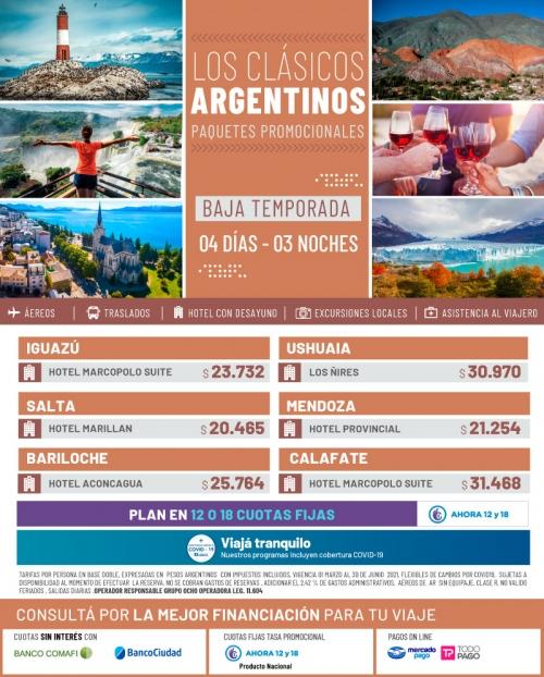 Los Clásicos Argentinos Promociones de Baja Temporada