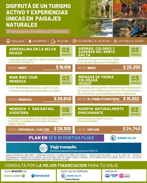 Turismo Activo y experiencias únicas en paisajes naturales