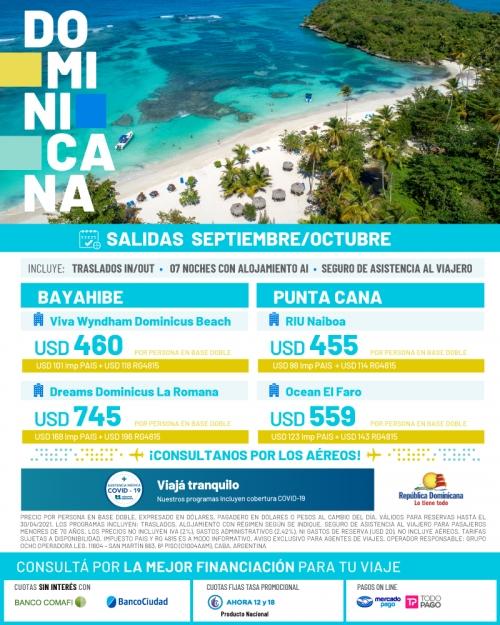 Rep Dominicana Salidas en Septiembre y Octubre