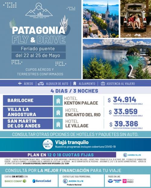 Patagonia Fly & Drive feriado de Mayo Cupos Ok