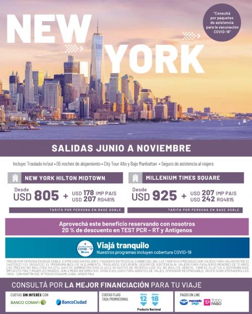 New York Salidas Junio a Noviembre