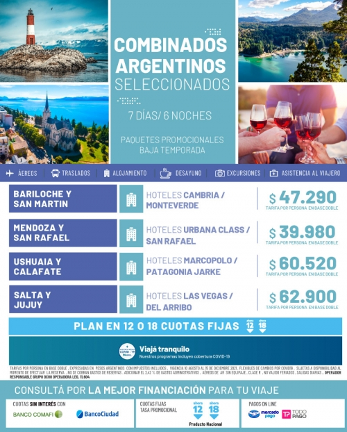Combinados Argentinos Promociones de Baja Temporada