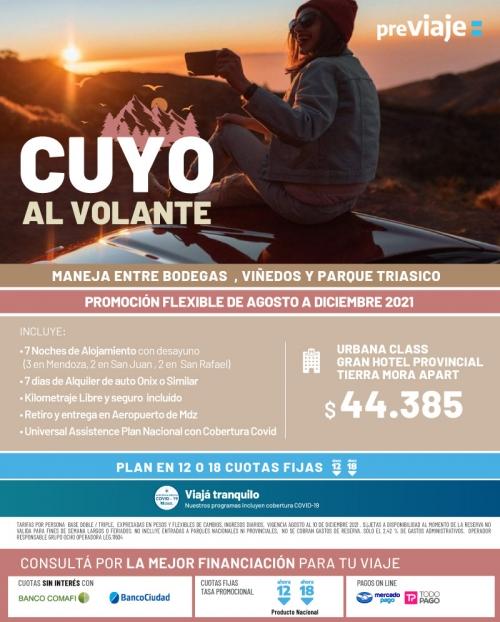 Cuyo al Volante Promo FLEX Agosto a Diciembre