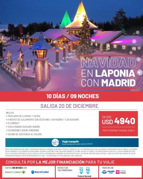 Navidad en Laponia con Madrid