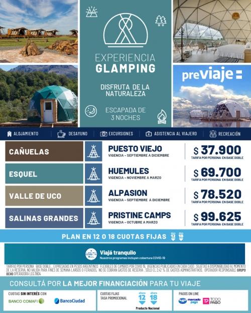 Experiencias Glamping en Argentina