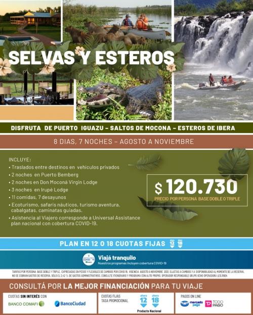 Selvas y Esteros en Argentina