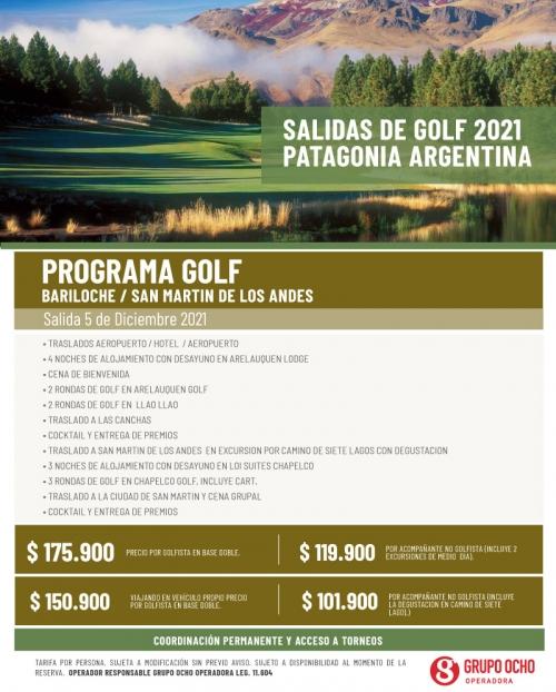 Programa de Golf en Patagonia